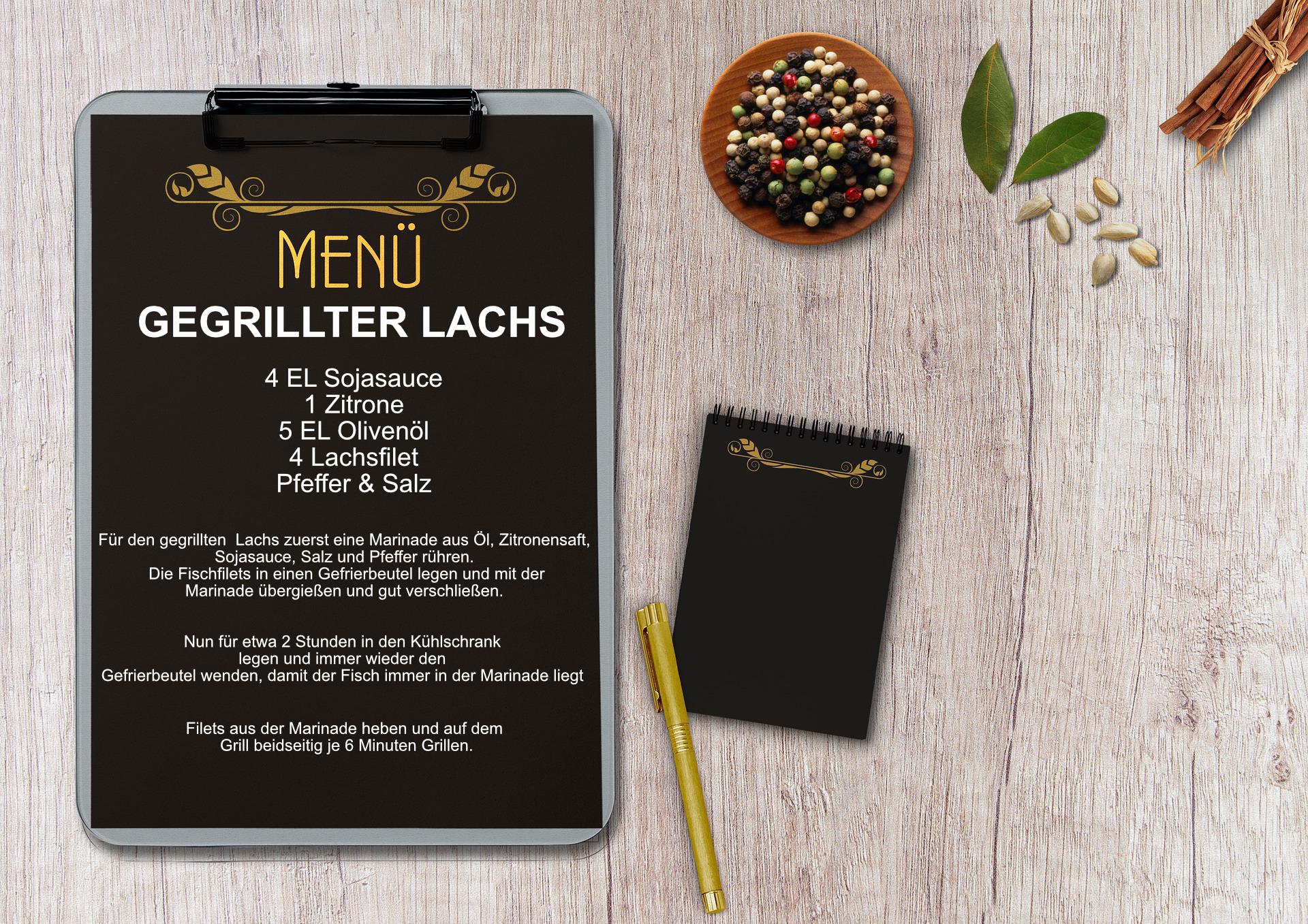 Gegrillter Lachs